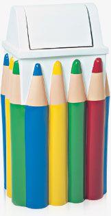 Lixeira em Fibra de Vidro Modelo Infantil Lápis 100 Litros - Cód. 1060