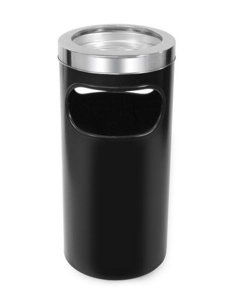 Cinzeiro lixeira em plástico com bandeja em alumínio e aro em aço inox - Cod. C6i