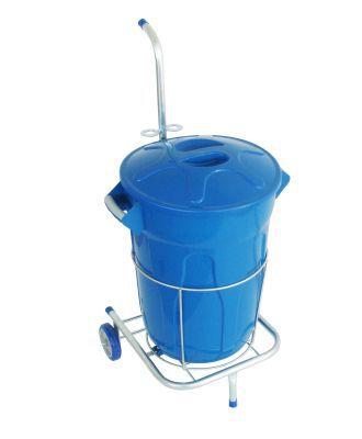 Carrinho funcional com um balde para limpeza 60 litros