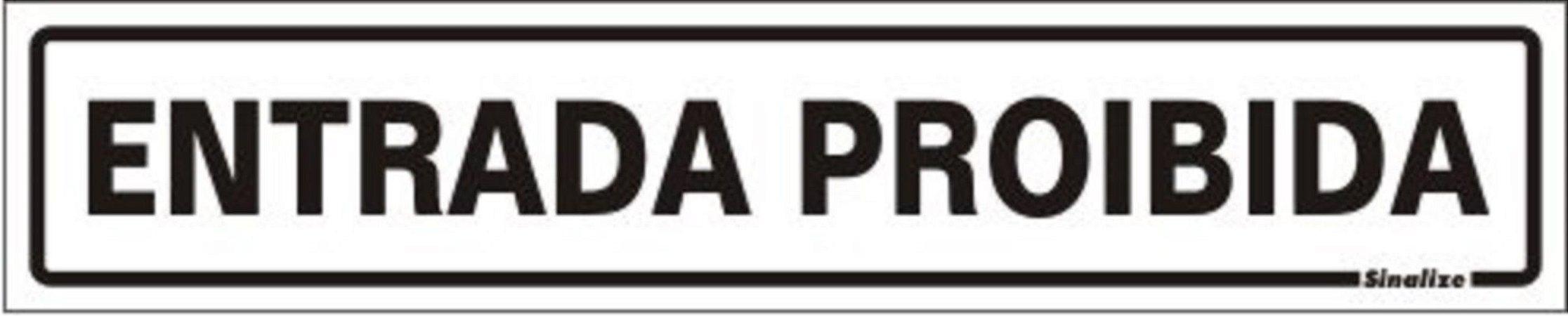 Placa de Sinalização Alumínio CAIXA 5 x 25 cm