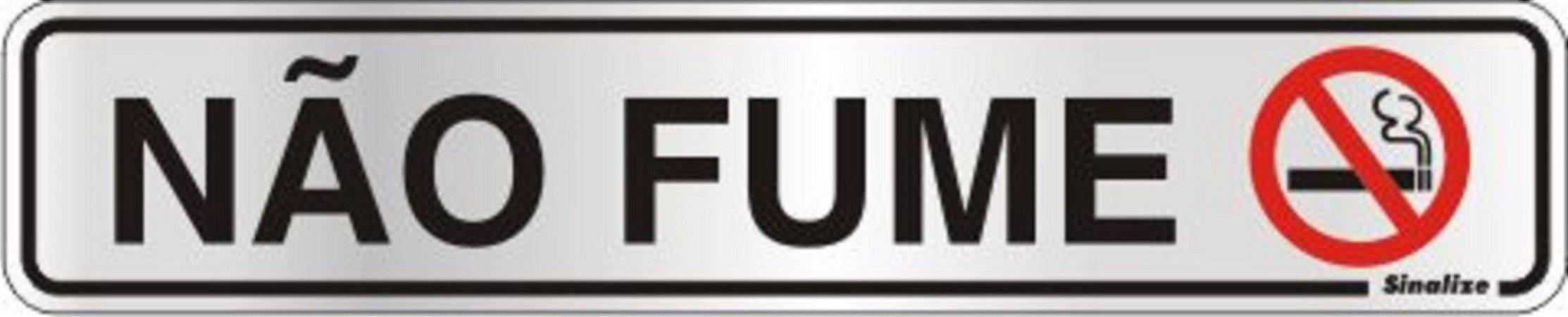 Placa de Sinalização Alumínio NÃO FUME - 5 x 25 cm