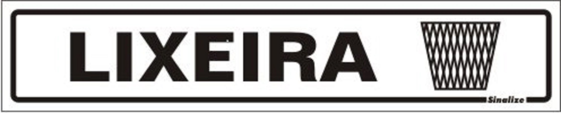 Placa Sinalizadora em Poliestireno 5 x 25 cm LIXEIRA