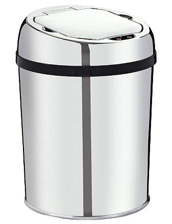 Lixeira automática com sensor 3 litros Inox