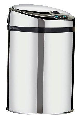 Lixeira automática com sensor 9 litros Inox