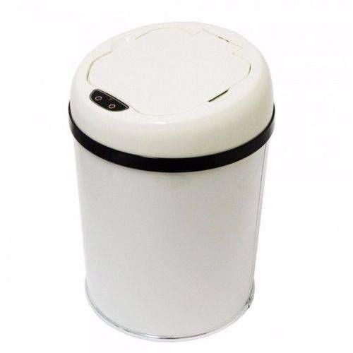 Lixeira automática com sensor 6 litros Inox Preta ou Branca - Cod. WTL6C