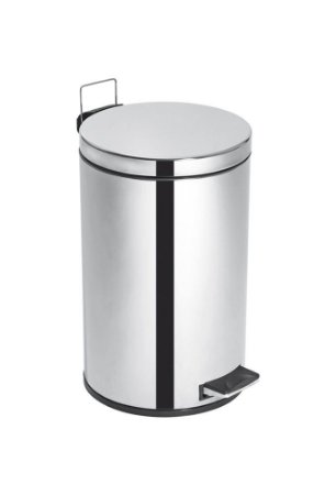 Lixeira Inox c/ Pedal e Balde Elegance - 12 litros - Cod. 43350