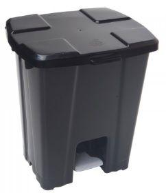 Lixeira plástica com Pedal 30 litros - Preto