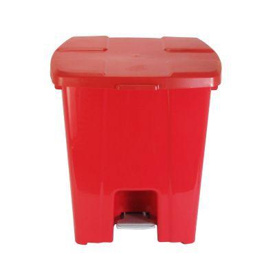 Lixeira plástica com Pedal 30 litros - Cinza