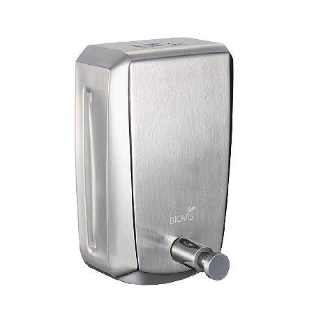 Dispenser para sabonete líquido ou álcool em gel Inox Escovado Noble - 800 ML