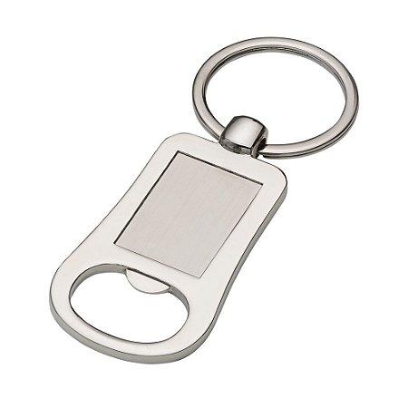 Chaveiro de metal abridor, para personalização na frente e verso. Código: SK 12798