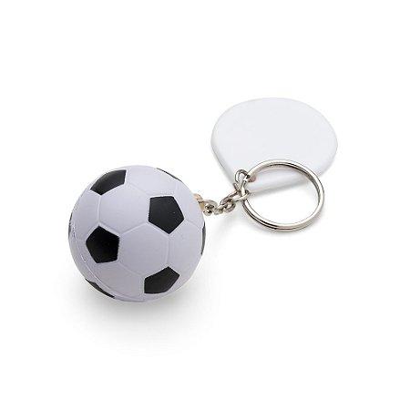 Chaveiro bola de futebol anti-estresse. Bola feita de espuma. Código: SK 12455
