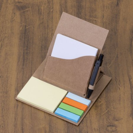 Bloco de anotações ecológico dobrável  possui   folhas  50 folhas. Código: SK 12519