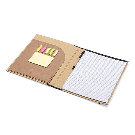 Pasta ecológica convenção  com post it e com caneta e bloco de anotar. SK 12482