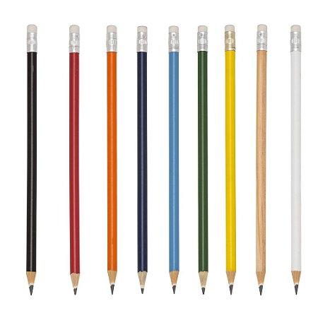 Lápis madeira(reflorestamento) colorido com borracha e grafite preto,Código SK 11827