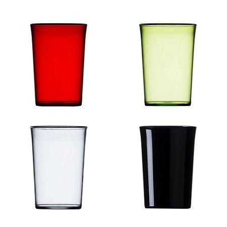 Copo de acrílico 350ml colorido esses copos são muito usados em festas. Código SK 12427