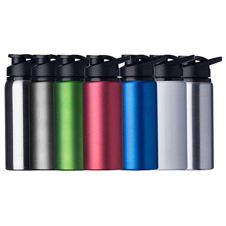 Squeeze em alumínio de 600ml com tampa plástica,Squeeze Personalizado. Código SK 12487
