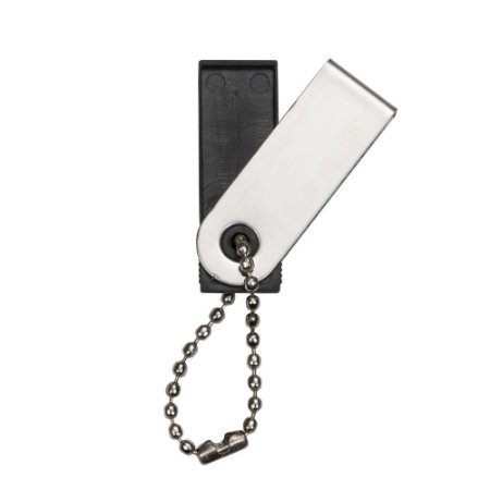 Carcaça brilhante de metal do modelo pen drive Pico,acompanha corrente. SK 67CBRI