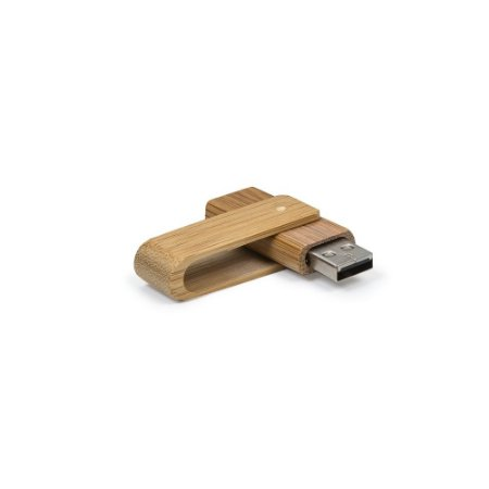 Pen drive de bambu gravação a laser com a marca da sua empresa.Código SK 034-4GB