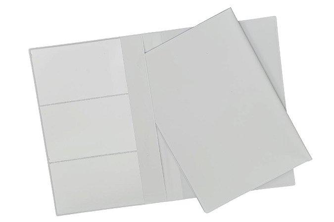 Porta Manual de Carro em Couro Ecológico Branco, Preto ou Azul. Cód. SKP80