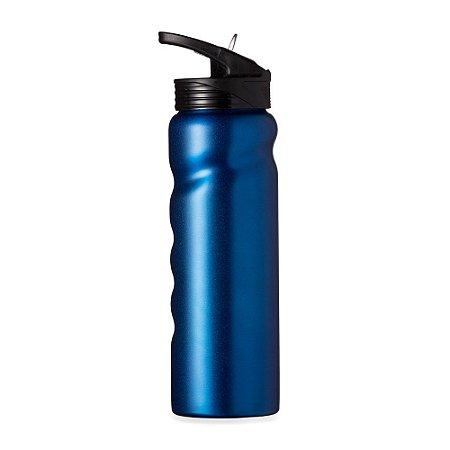 Squeeze de inox 750 ml, corpo com design ergonômico. Codigo SK 13585