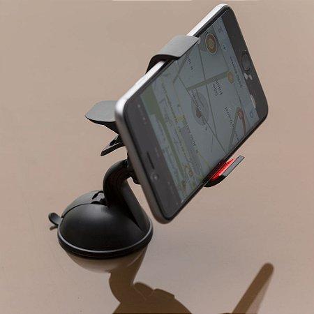 Suporte de celular veicular regulável com ventosa. cod. SK 13392