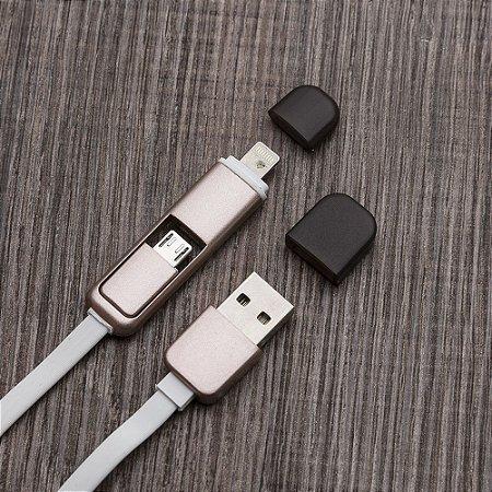 Cabo de dados USB com dois tipos de entrada. Cód. SK 2004
