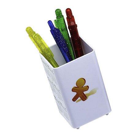 Porta Lápis Material Plástico injetado branco/colorido, personalizada.