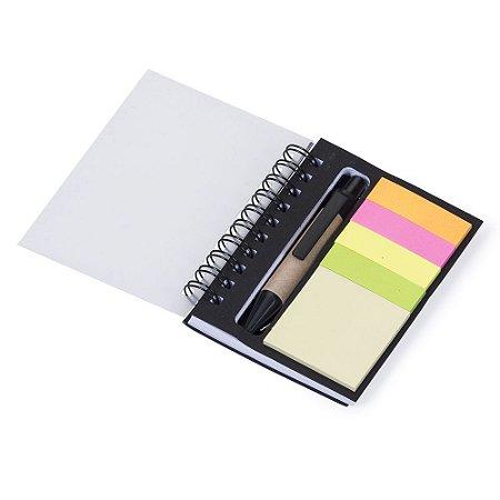 Bloco de anotações com caneta. Cód. SK 12518