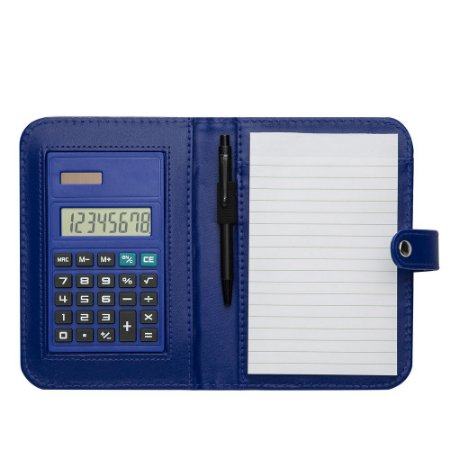 Bloco de Anotações com Calculadora e Caneta. Cód. SK 1620