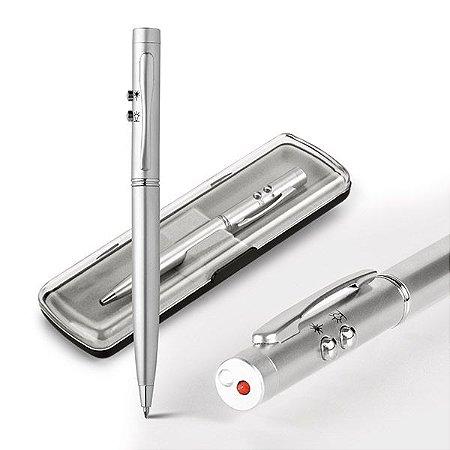 EBRE Esferográfica  Metal. Com ponteira laser e LED. Cód. SPCG91821