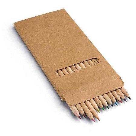 Caixa de cartão com 12 lápis de cor. 90 x 180 x 9 mm. Cód.SPCG91746