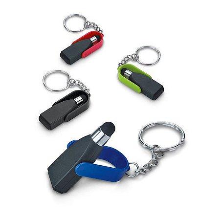 Chaveiro. ABS. Com ponteira touch e limpador de tela. 19 x 55 x 9 mm. Cód.SPCG93358