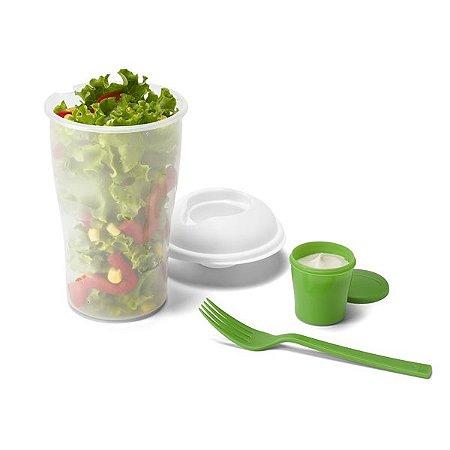 Copo para salada. PP. Com garfo e molheira. Capacidade: 850 ml. Cód.SPCG53878