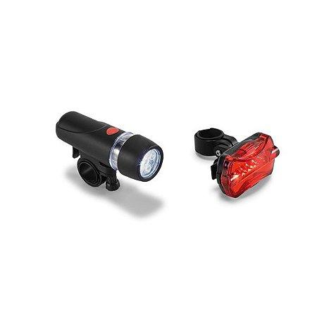 Kit farol para bicicleta. Farol dianteiro com 5 LEDs e 2 modos de luz. Cód.SPCG98507