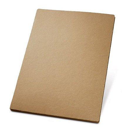 Pasta A4. Cartão: 450 g/m². Bloco: 20 folhas não pautadas de papel reciclado. Cód.SPCG92046