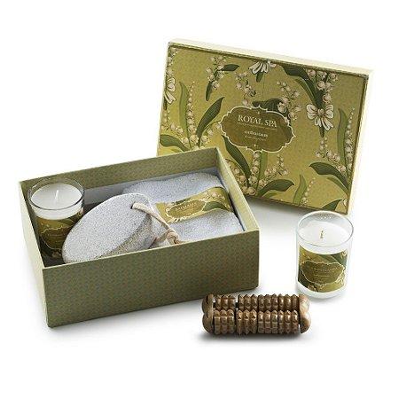 Kit aromatizante com 5 peças em estojo de papelão com tampa. Cód.SK13759
