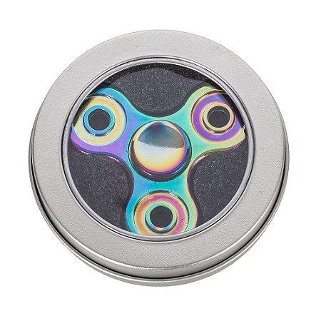 Spinner anti-stresse camaleão com ruelas metálicas. Cód.SK13710