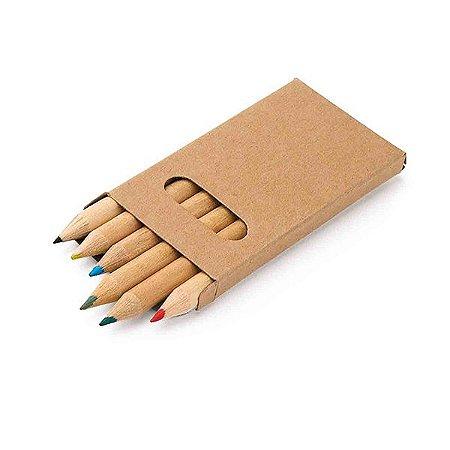 Caixa de cartão com 6 lápis de cor. 45 x 90 x 9 mm. Cód.SPCG91750