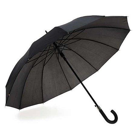 Guarda-chuva de 12 varetas. Poliéster 190T. Pega revestida em borracha. Cód.99126