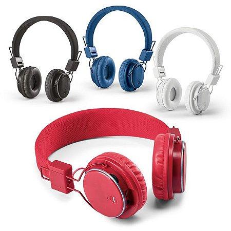 Fone de ouvido dobrável. ABS.  Com bluetooth e leitor de cartões TF. Cód.SPCG97365