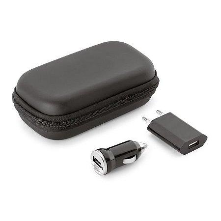 Kit de carregadores USB. ABS.  Incluso carregador de corrente. Cód.SPCG57326