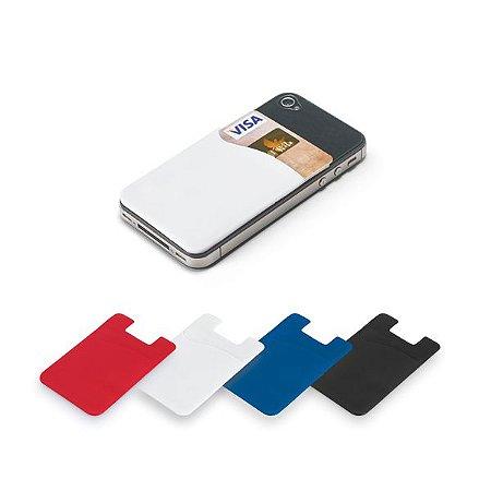 Porta cartões para smartphone. PVC.  Com autocolante. Cód.SPCG93264