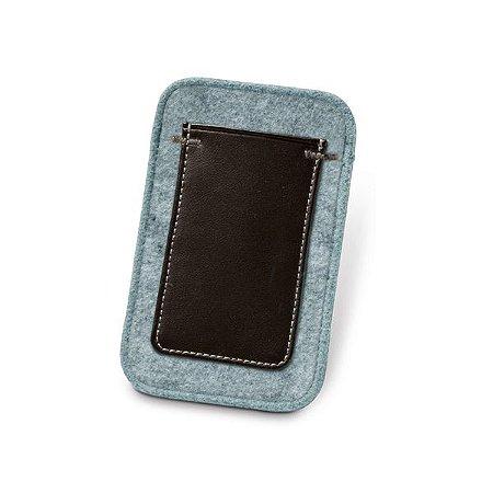 Bolsa para celular. Feltro e c. sintético.  Com bolso exterior. Cód.SPCG93260