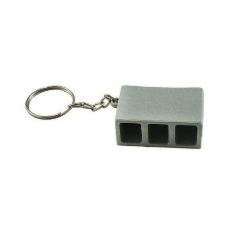 Chaveiro plástico formato bloco de concreto. SK13789