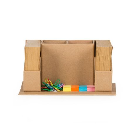 Bloco de anotação ecológico com porta canetas e post-it. Cód.SK13751