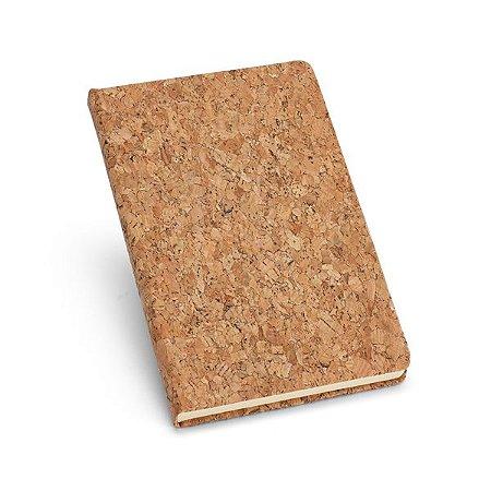 Caderno. Cortiça.  Com 80 folhas pautadas cor marfim.  Cód.SPCG93489