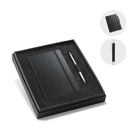 Kit de caderno e esferográfica.  Cartão e alumínio. Cód.SPCG93499