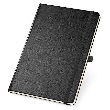 Caderno capa dura.  Com porta esferográfica, bolso interior e 80 folhas. Cód.SPCG93727