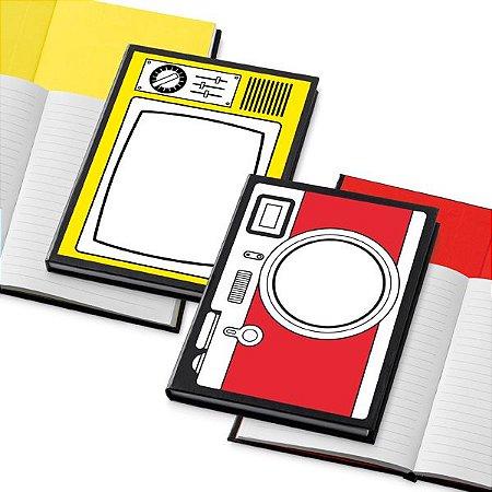 Caderno. Cartão.  Com 72 folhas pautadas. Cód.SPCG33401