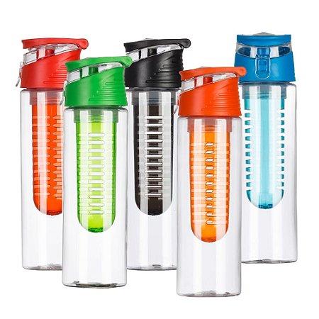 Squeeze Plástico 700ml com Infusor. Cód. SK13764B